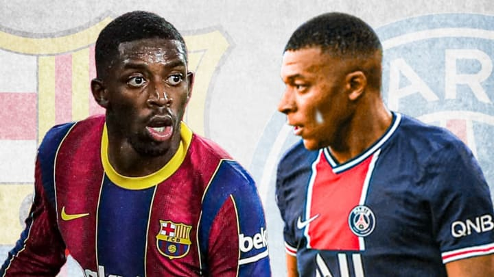 Ousmane Dembélé et Kylian Mbappé seront attendus lors huitième entre le Barça et le PSG.