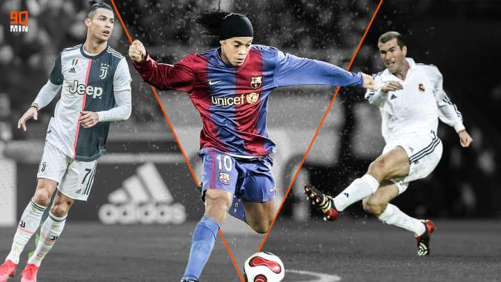 Cristiano Ronaldo, Ronaldinho et Zidane, les rois du passement de jambe.