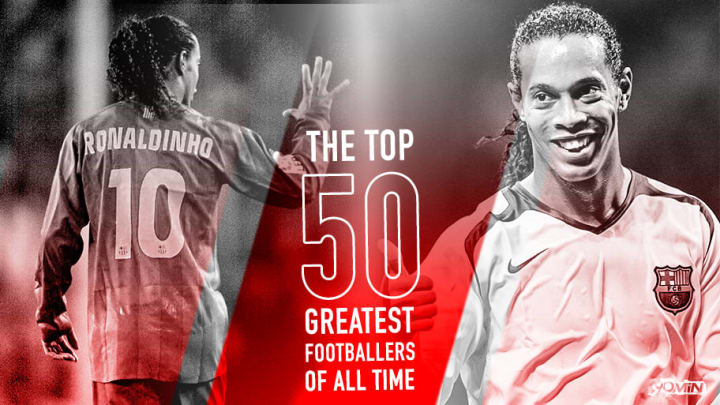 Ronaldinho is number 26 in 90min's Top 50 Greatest Footballers of All Time series