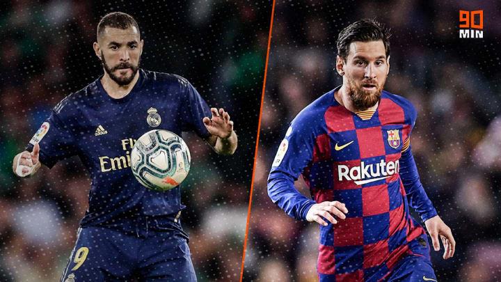 Karim Benzema et Lionel Messi