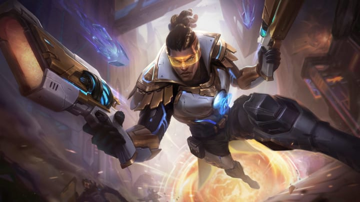 Pulsefire Lucian Prestige Edition splash art.