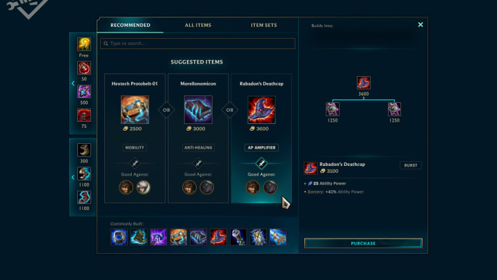 New Shop Interface