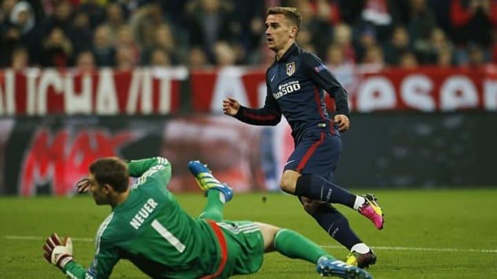 Griezmann anota ante Neuer el gol que clasificaba al Atlético para la final de la Champions