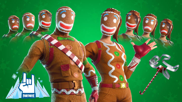 The Merry Marauder and Ginger Gunner outfits were introduced to Fortnite in December 2017.