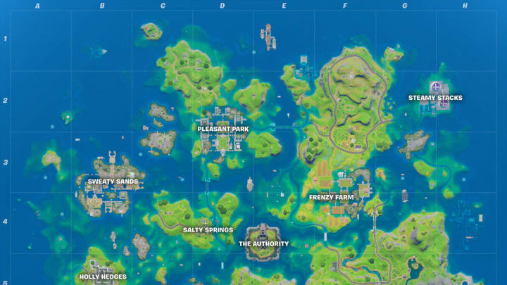 The Fortnite soccer pitch is a popular area on the island.
