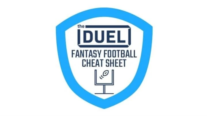 Fantasy football cheat sheet for the 2020 NFL season, including rankings, sleepers, breakouts, team names and more.