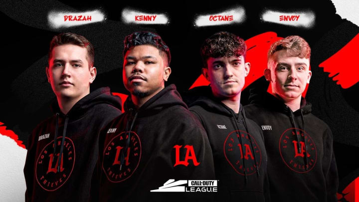 The Los Angeles Thieves' new starting lineup.