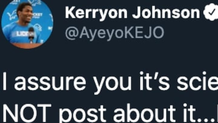 Detroit Lions RB Kerryon Johnson clapped back at a troll on Twitter