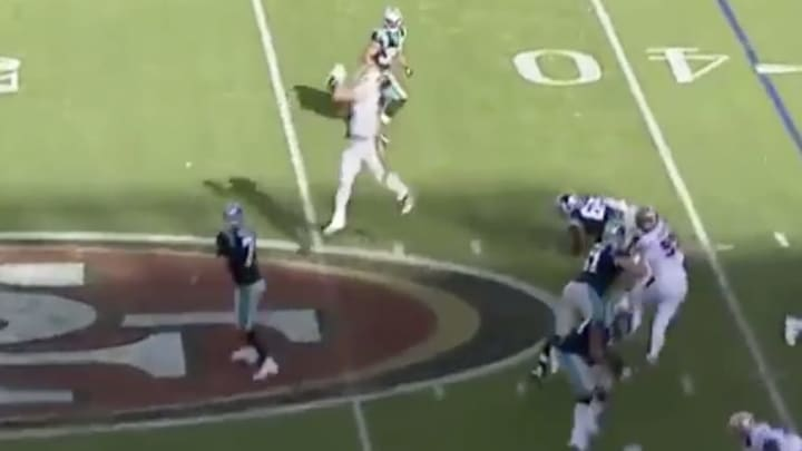 VIDEO: Remembering Nick Bosa's first career interception, which went for 46 yards.