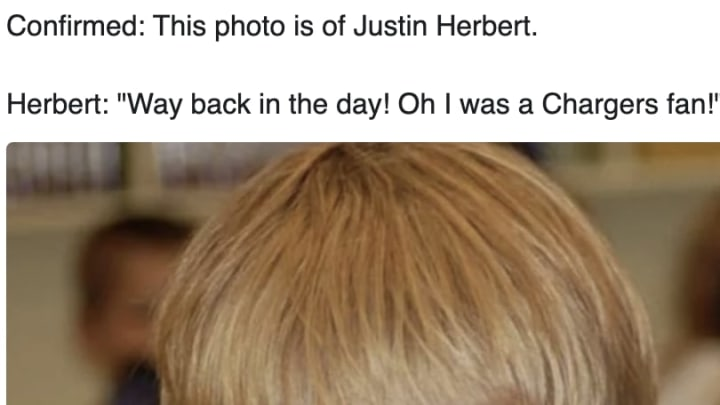 Justin Herbert really was a Chargers fan back in the day.