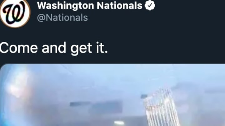 The Washington Nationals had a great tweet after MLB's return was confirmed.