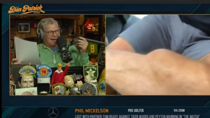 Dan Patrick and Phil Mickelson's leg.