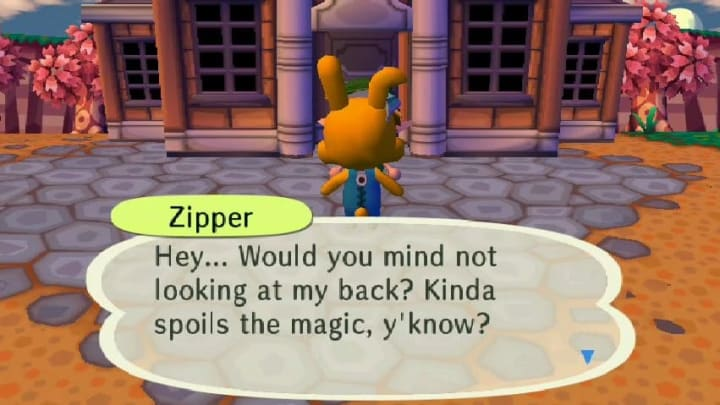 Zipper, a veteran furry, asking the player to not ruin the magic