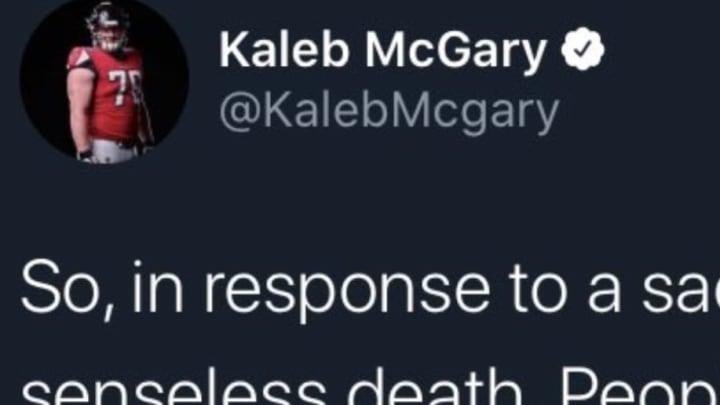 Atlanta Falcons offensive tackle Kaleb McGary