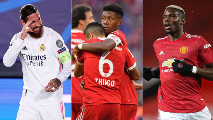 Sergio Ramos, Thiago Alcantara, David Alaba, Paul Pogba