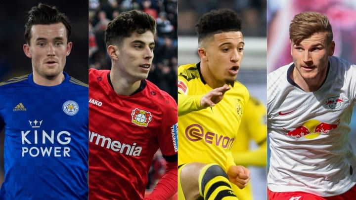 Ben Chilwell, Kai Havertz, Jadon Sancho, Timo Werner
