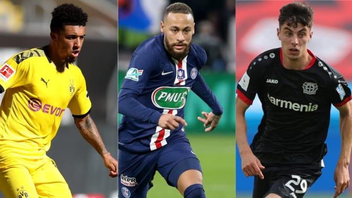 Jadon Sancho, Neymar, Kai Havertz