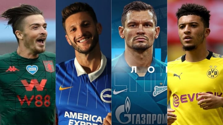 Jack Grealish, Adam Lallana, Dejan Lovren, Jadon Sancho