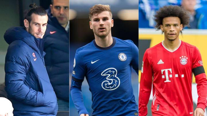 Gareth Bale, Timo Werner, Leroy Sane
