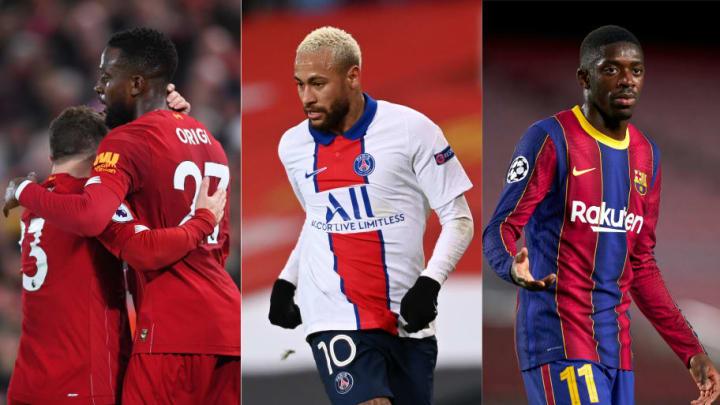 Xherdan Shaqiri, Divock Origi, Neymar, Ousmane Dembele
