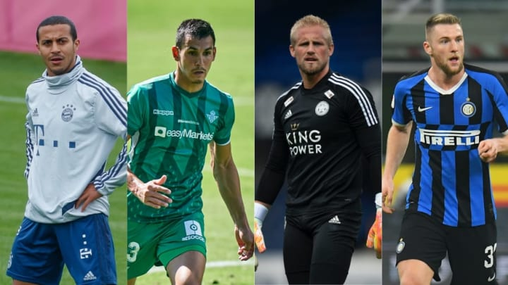 Thiago Alcantara, Aissa Mandi, Kasper Schmeichel, Milan Skriniar