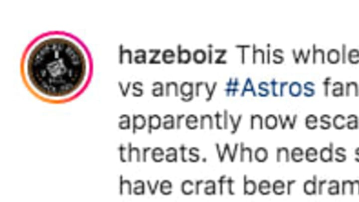Some Houston Astros fans are engaging in a fight with a New Jersey brewery.