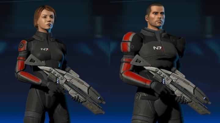 Mass Effect Legendary Edition - Mass Effect Psychological Profile. Mass Effect Legendary Edition commander Shepard both
