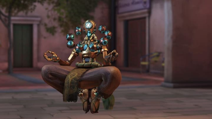 OverwatchArchives 2021Week 2 Challenges reward players with Subaquatic Zenyattacosmetics for winning games across story missions.