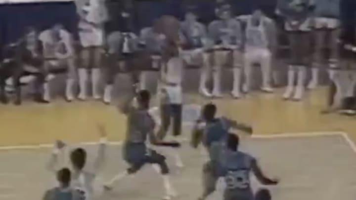 Michael Jordan nailed a game-winning jumper against Georgetown