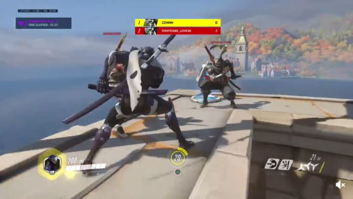 Sudden Genji Dance Party with perfectly lined up emotes.