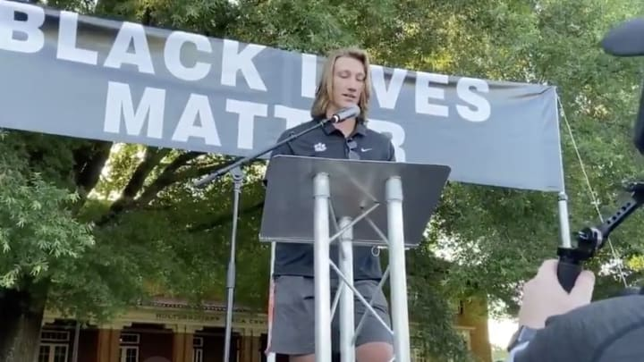 Trevor Lawrence offered up his thoughts on the Black Lives Matter movement