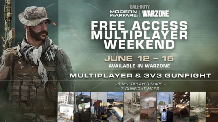 Modern Warfare free multiplayer access has be reinstated for the weekend for all players.
