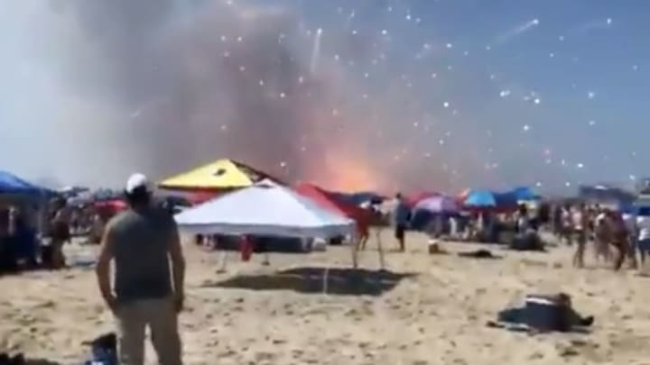 Ocean City, Maryland's fireworks this morning.