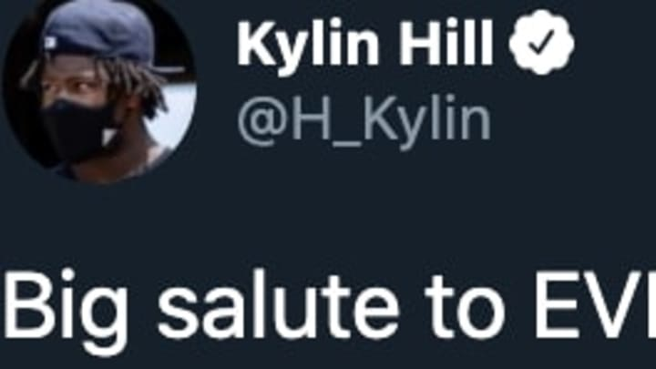 Mississippi State RB Kylin Hill reacted on Twitter when the state changed its controversial flag.