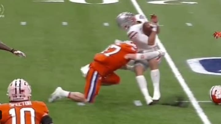 James Skalski lays a brutal hit on Justin Fields during the Sugar Bowl