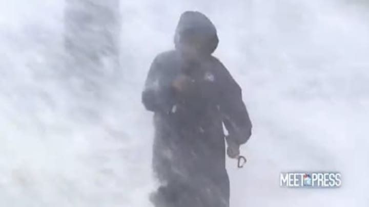 Al Roker is somewhere in New Orleans getting rocked by waves.