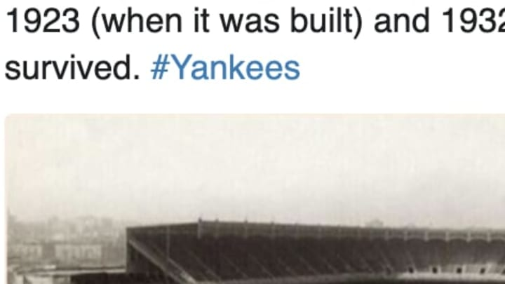 New York Yankees' old Stadium was amazing.