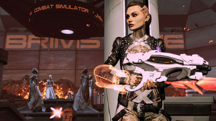 The ending of Mass Effect 2 features Commander Shepard and their collected crew aboard the Normandy taking the fight to the Collectors.