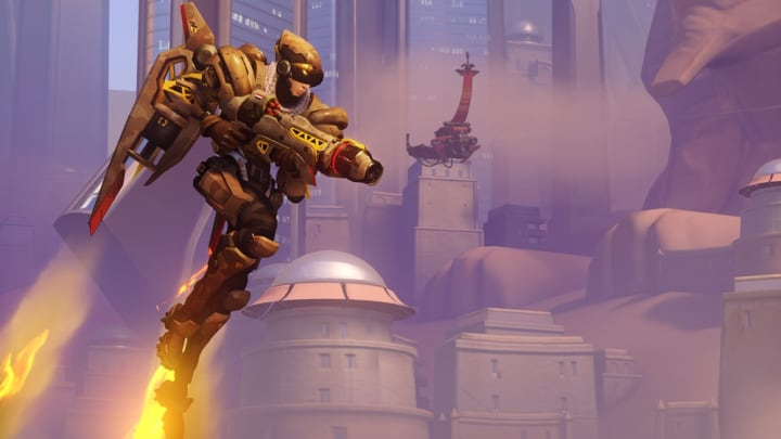 Pharah's crouch mid-air buff during Hover Jets is removed  from Experimental Mode
