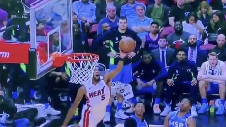 Miami Heat's Derrick Jones Jr. makes crazy tip-in