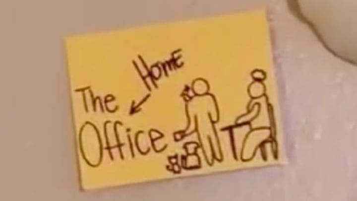 Utah couple parodies 'The Office' while working from home.