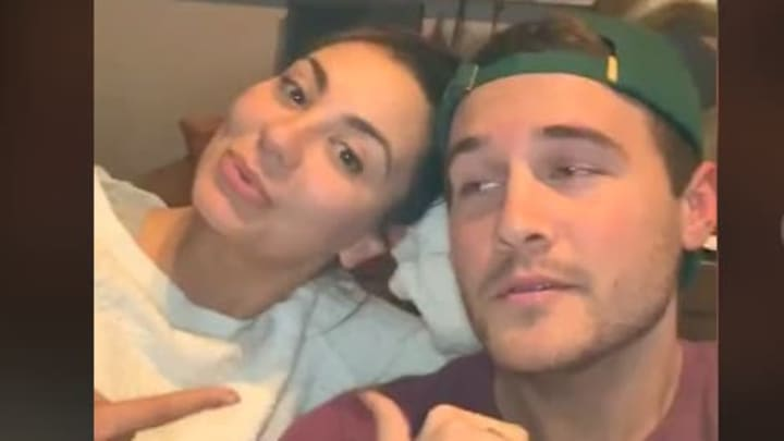"""Peter Weber and Kelley Flanagan tease their relationship in new TikTok to Akon's """"Don't Matter."""""""