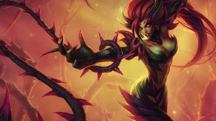 The Coven Zyra skin preview was released early today in the League of Legends Public Beta Environment.