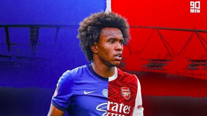 Willian becomes the third Brazilian in Arsenal's ranks