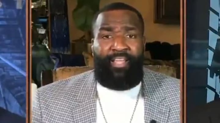 """Kendrick Perkins continues his hot takes on Michael Jordan and """"The Last Dance"""" on ESPN's First Take"""