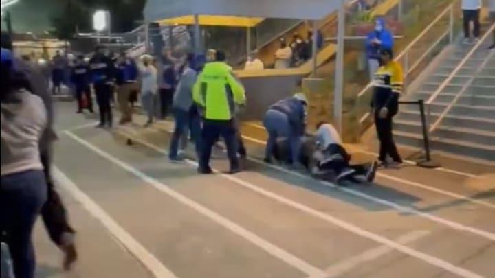A brawl at Dodger Stadium
