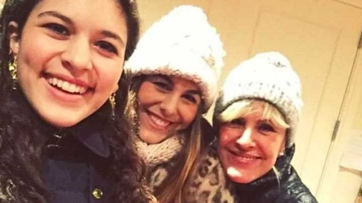 From left to right: Victoria Laboz and her sister, Marlena Laboz, and their mother Ewa Laboz.