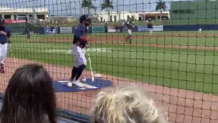 Houston Astros star Jose Altuve was savaged by a fan during a Spring Training game.