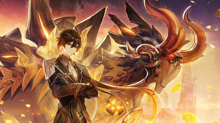 Genshin Impact Patch 1.5 Zhongli promotional artwork