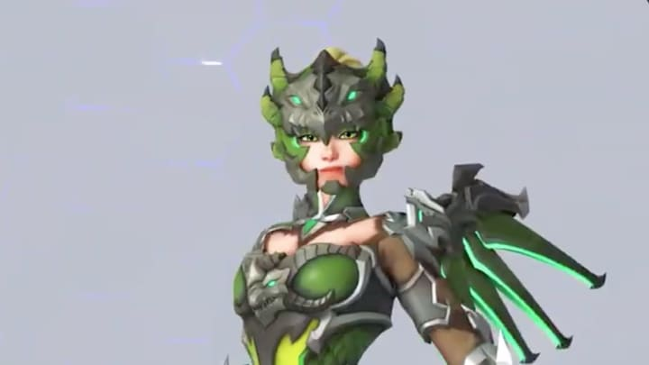 Dragoon Mercy skin was revealed Sunday, and is the fourth skin announced so far.